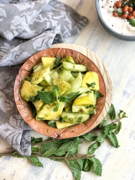 Cucumber pineappla raw mango pudina indian salad recipe 1 1 1600